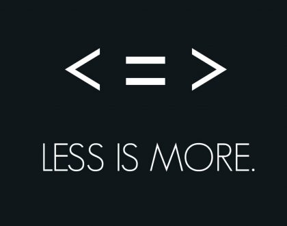 """Less Is More, Part 3"""